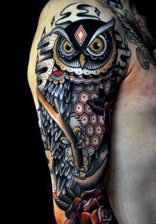 Owl Half Sleeve Tribal Tattoos For Men | tattoos 2 ...