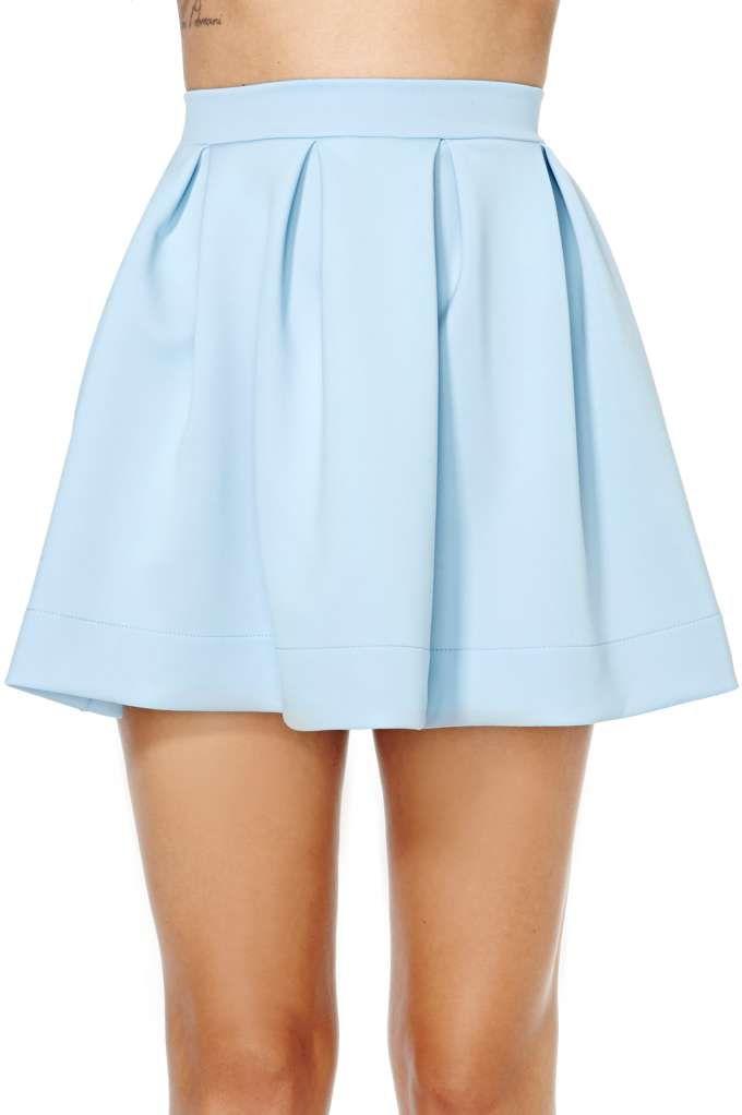 c928447a7daed Scuba Skater Skirt - Blue | Style | Blue skater skirt, High waisted ...