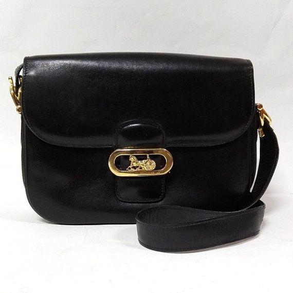 4bb9525412e8 574 Vintage CELINE Iconic Sulky Logo Black by CharmOfVintage ...