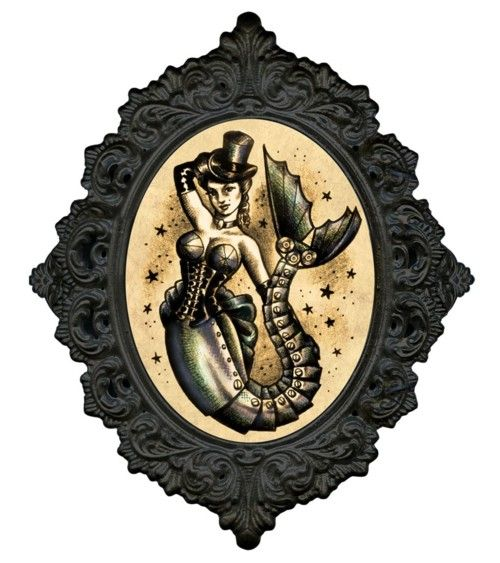 belaquadros:    Steampunk Mermaid image by Hannah Aitchison