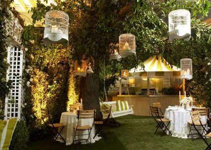 Gartenparty Deko gartenparty deko mit runden vogelkäfigen deko