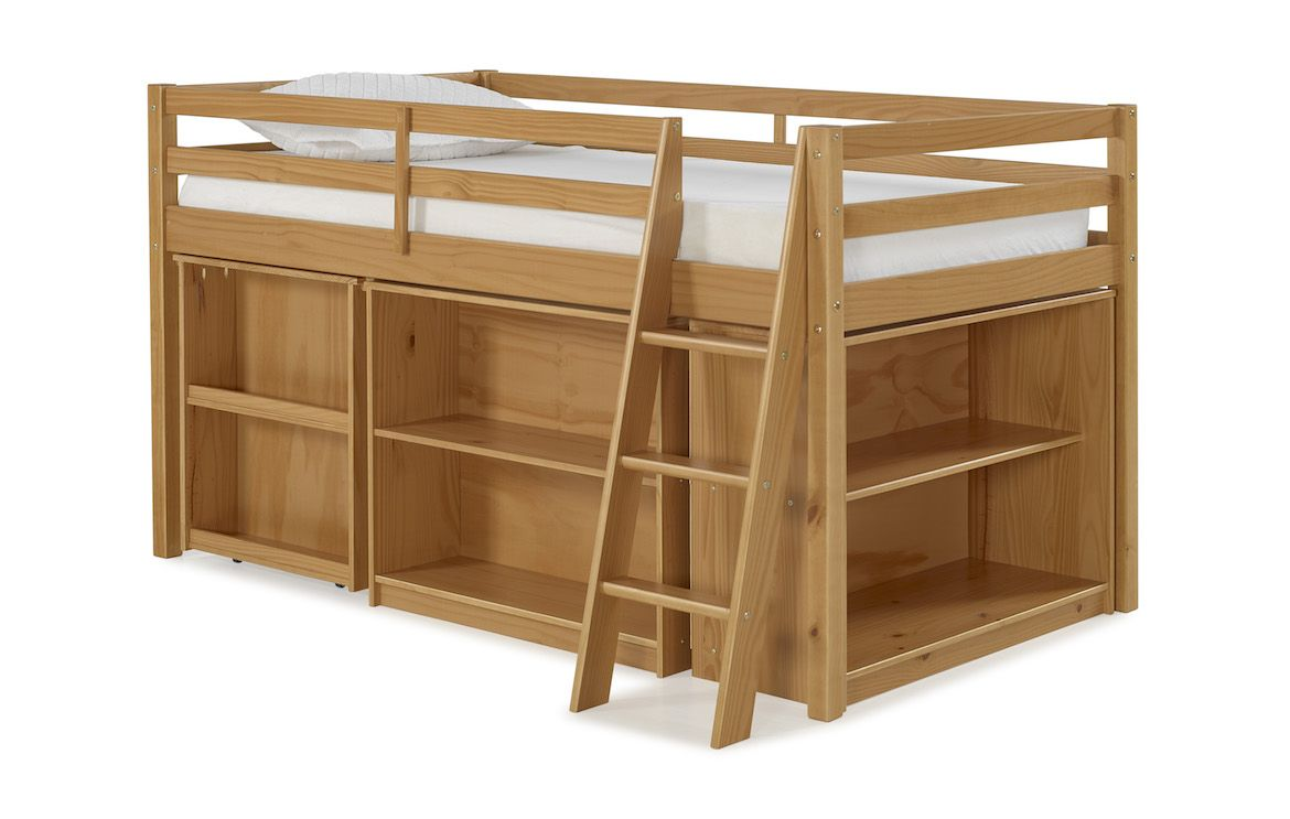 Junior loft bed with stairs  The Roxy junior loft bed with storage will give your child a fun and