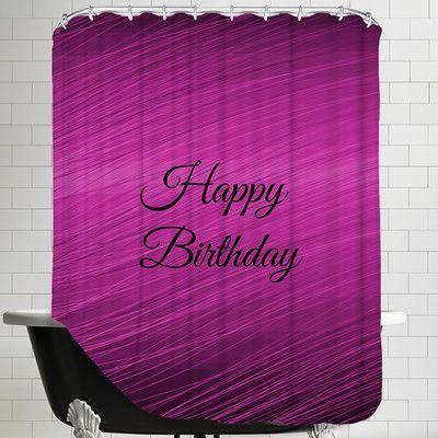 Americanflat Happy Birthday Shower Curtain