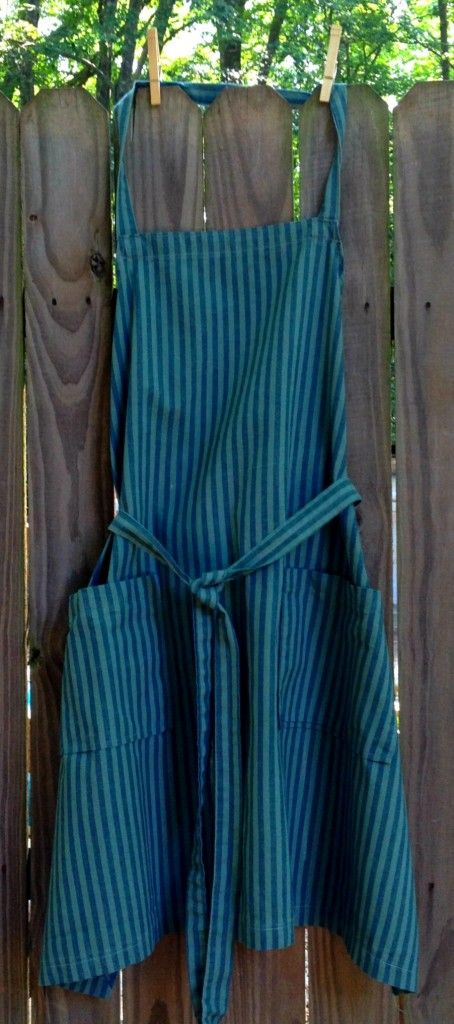 New Blue Stripe Two Pocket Full Apron. $17.99 (free shipping)