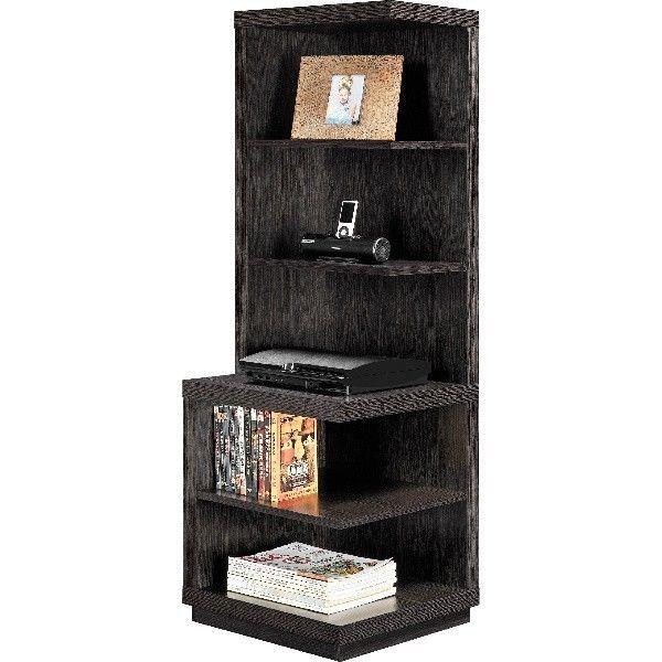 Narrow Corner Bookshelf Display Shelf For Collectables Horizontal Tier Bookcase