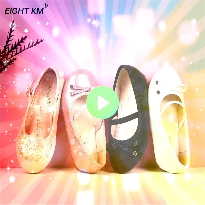 KM Mary Jane Flat Sandals Kids Leather Shoes Formal Party Princess Balerinas Nina Shoes for Girls Fashion Butterflyknot 16151 USD 3600 OFF EIGHT KM Mary Jane Flat Sandals...