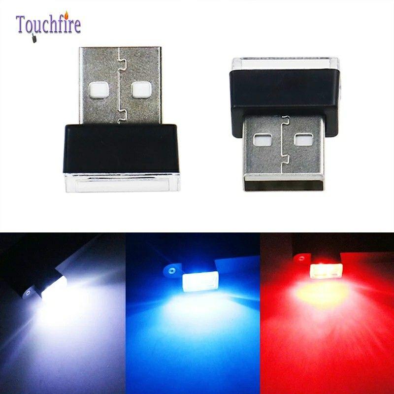 6Pcs 5V USB Luci D'atmosfera A LED Decorativa Lampada Auto