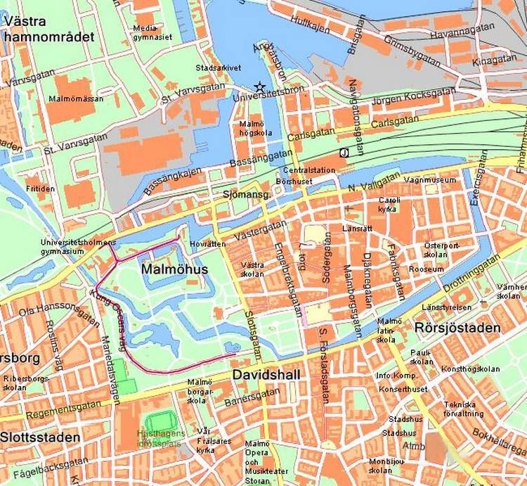 Map of Malmo Places we have done fieldwork Pinterest