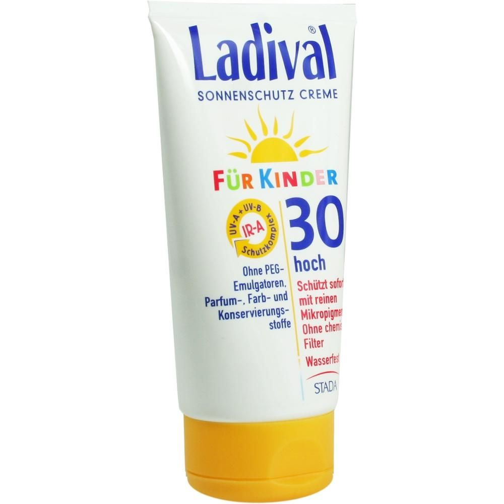 LADIVAL Kinder Creme reine Mikropigmente LSF 30:   Packungsinhalt: 150 ml Creme PZN: 05010285 Hersteller: STADA GmbH Preis: 11,94 EUR…