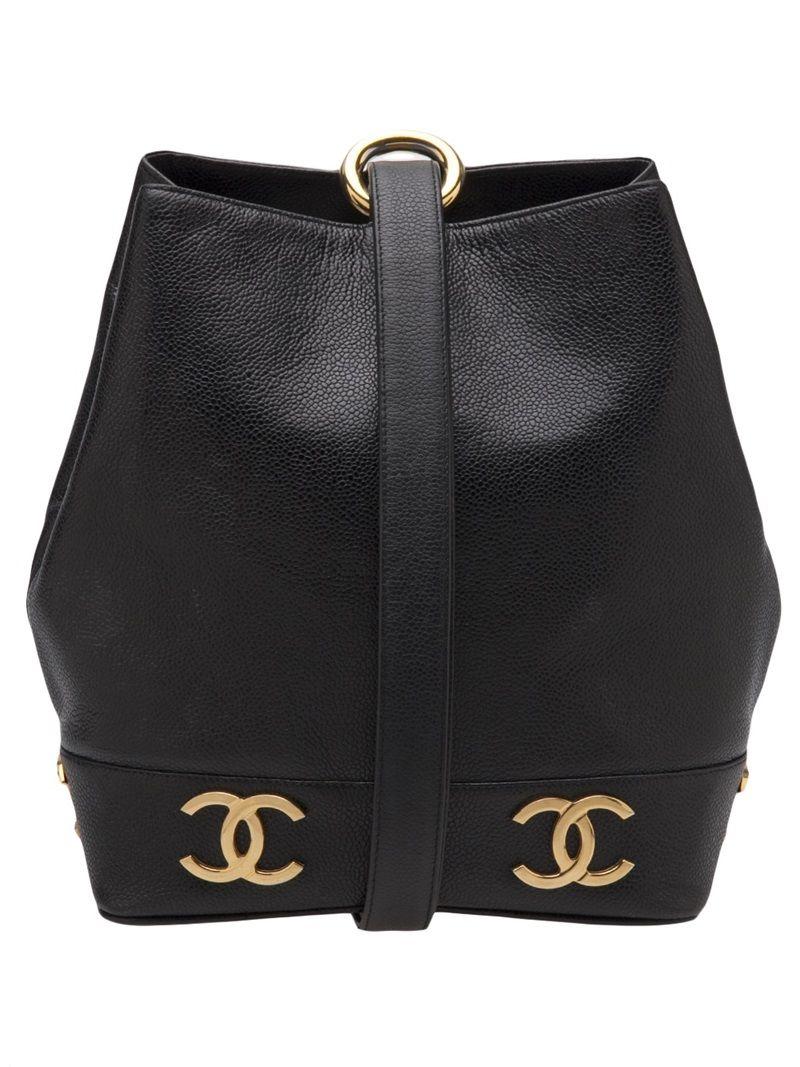Chanel Vintage Bucket Bag Farfetch Com Chanel Bag Vintage Chanel Bags Designer
