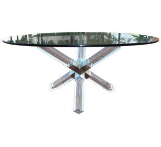 Round Lucite Dining Table With Images Dining Table Modern