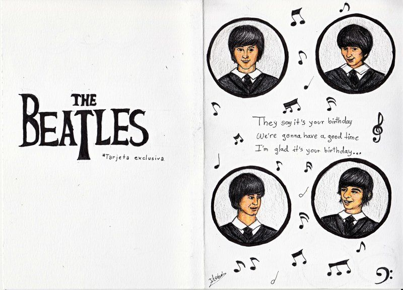 The Beatles Birthday Card Caley Pinterest Beatles Birthday