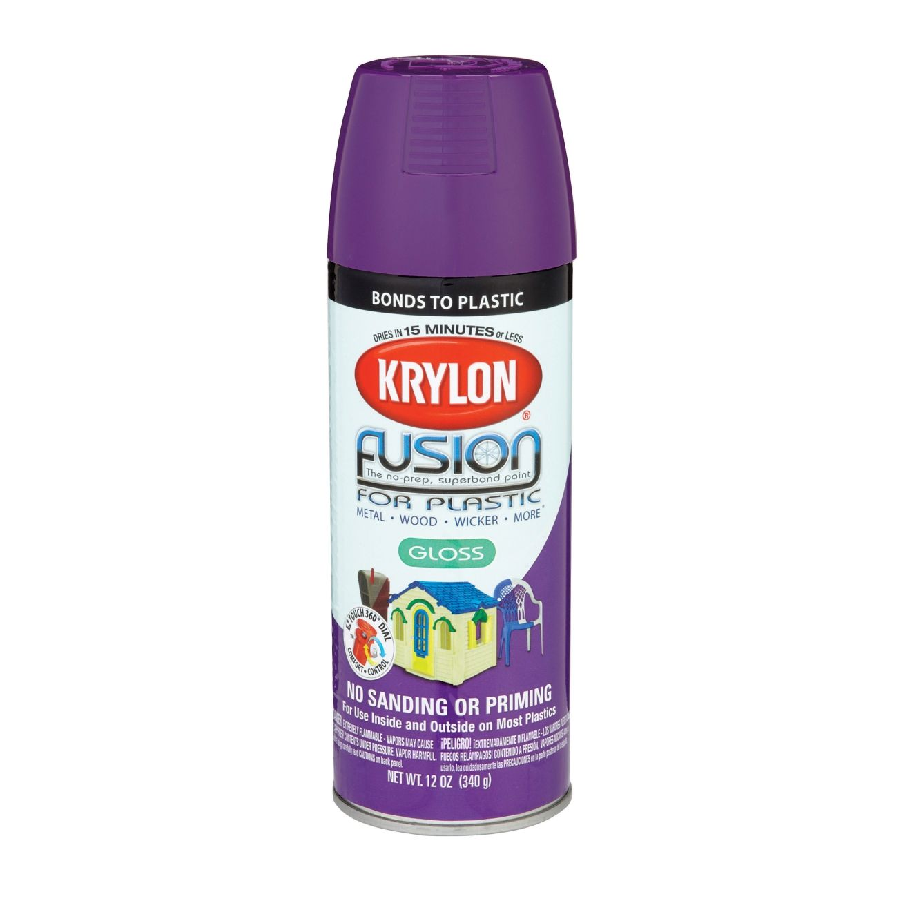 Krylon Fusion 12 Oz Spray Paint Gloss Plum Spray Paint