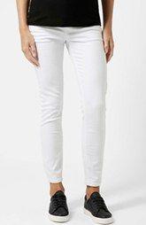 Topshop 'Jamie' Skinny Maternity Jeans (White)