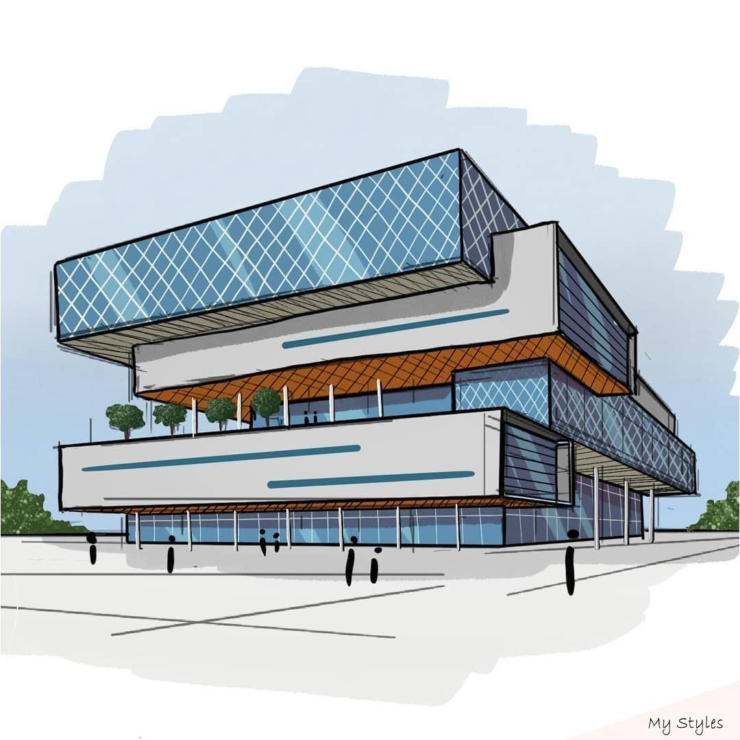"Ehab Alhariri on Instagram: ""Overlap!-. . . . . . . . . . . ——————————- #architecture #archdaily #design #designer #archilovers #conc #cultural #centre #concept #architecture"