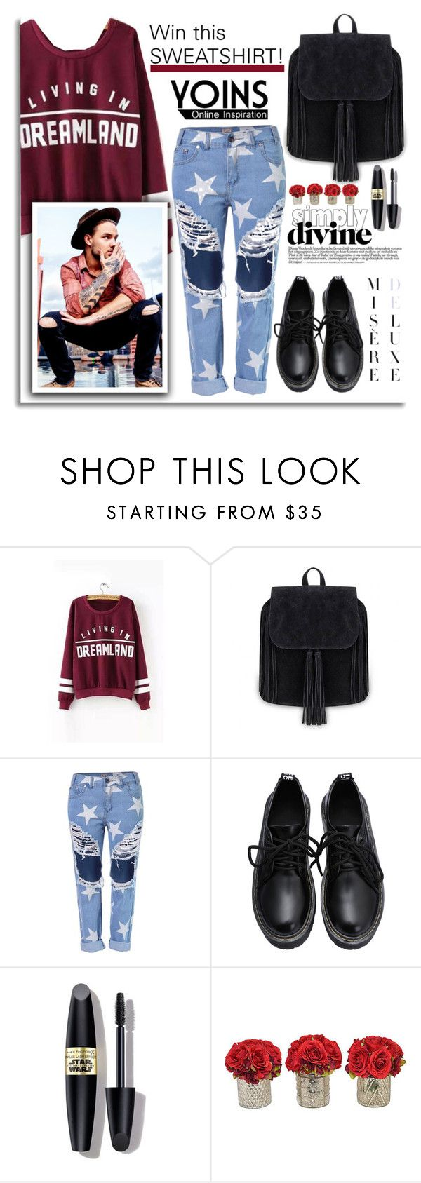"""""""Win Yoins Sweatshirt!"""" by dora04 ❤ liked on Polyvore featuring Max Factor, women's clothing, women's fashion, women, female, woman, misses, juniors, yoins and yoinscontest"""