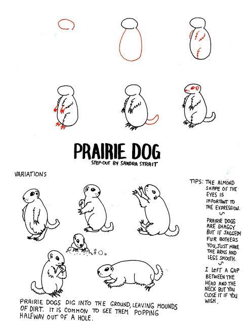 Life Imitates Doodles Prairie Dog Fantasy Landscape Step Out