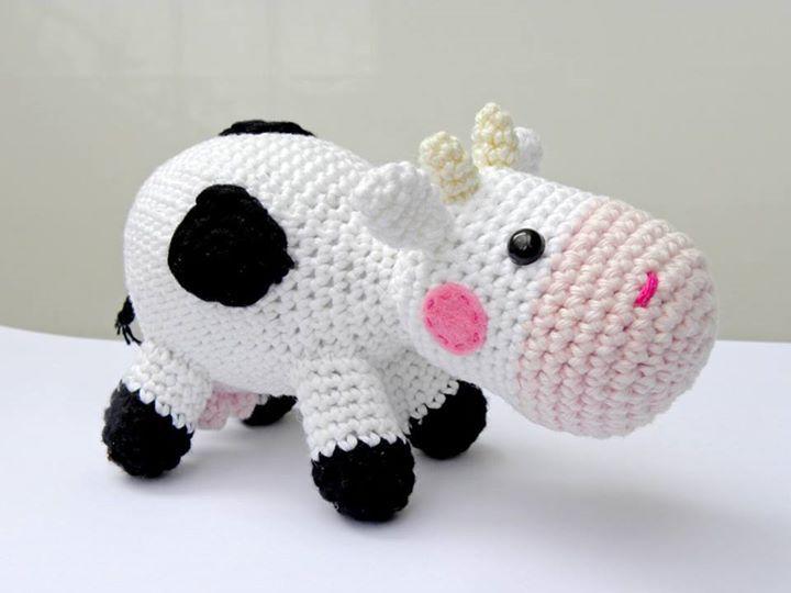 Amigurumi Vaca : Cute amigurumi cow by amigurumi torino amigurumi