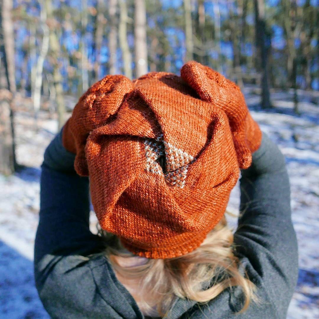 Cyclone hat by MyGurumi | malabrigo Mechita in Dried Orange | Free ...