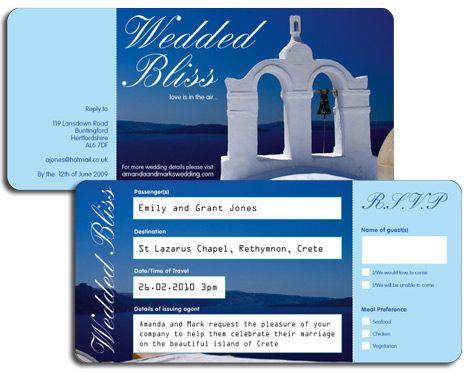 Airline Ticket Invitation Wedding CardsWedding DecorWedding StuffWedding IdeasThemed WeddingsDestination