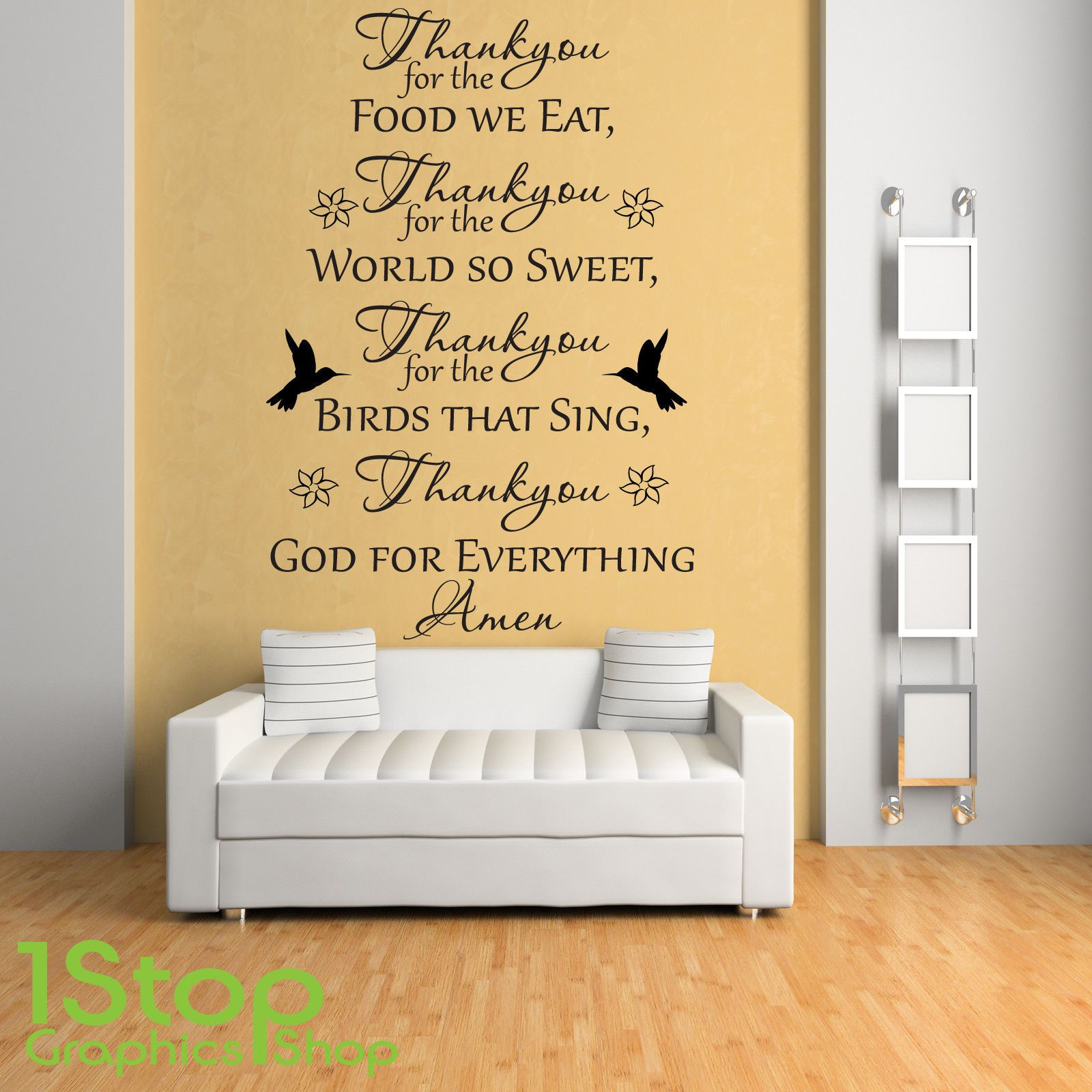 9.85 GBP - Thankyou God For Everything Wall Sticker Quote - Love ...