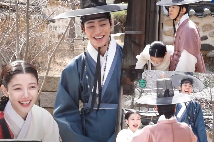 """Watch: Kim Yoo Jung, Ahn Hyo Seop, And Gong Myung Playfully Tease Each Other On Set Of """"Lovers Of The Red Sky"""""""