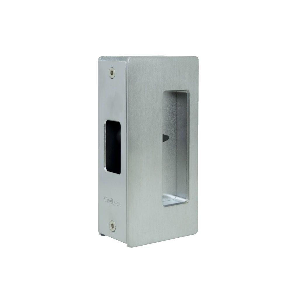 Satin Chrome Privacy Cavity Slider Handle Hanging Door Hardware