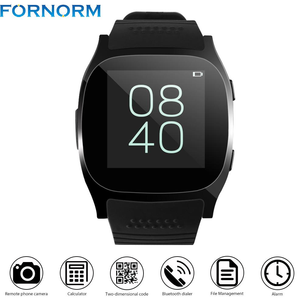 Fornorm t8 bluetooth sport smart watch phone 154 inch