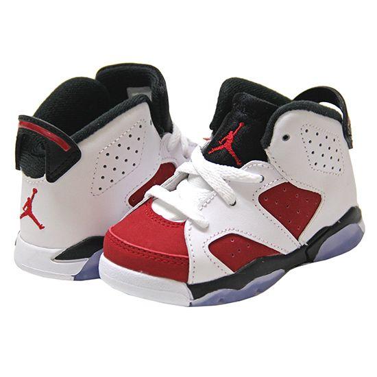 promo code eb356 594c7 cassettepunch  Rakuten Global Market Air Jordan 6 Retro BT Jordan 6 baby   kids size  white  Carmine x black (Jordan 6 Carmine) (AIR JORDAN)