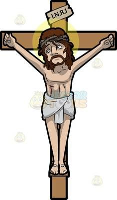 jesus nailed on the cross 1 christ pic pinterest cartoon rh pinterest co uk stations of the cross clipart black and white