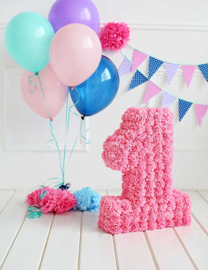 Colorful Balloons And Party Flags For One Years Old Photography