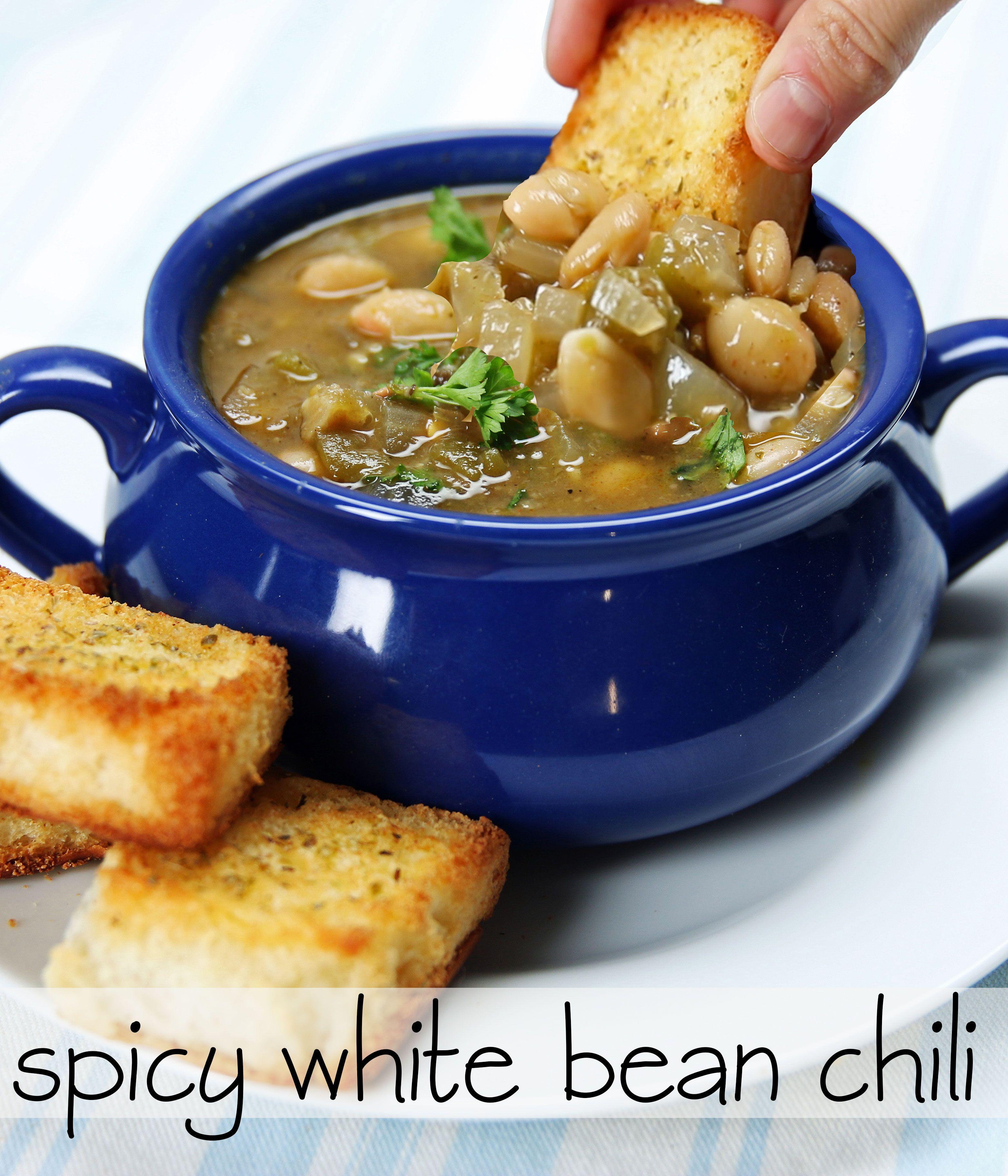 Spicy White Bean Chili White Bean Chili Recipes White Bean Chili Recipe