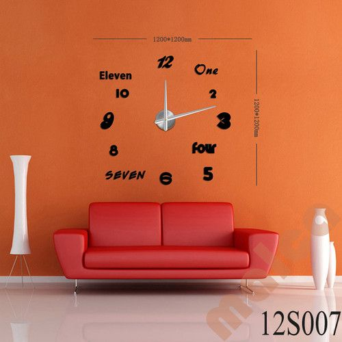 3D Modern Designs Frameless Large Wall Clock DIY Home Decor Style Watches  Hours