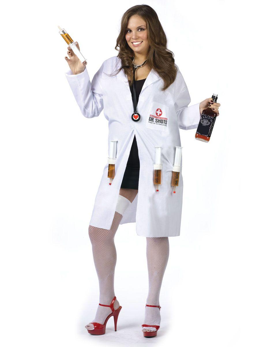 dr. shots adult womens plus size costume – spirit halloween | evil