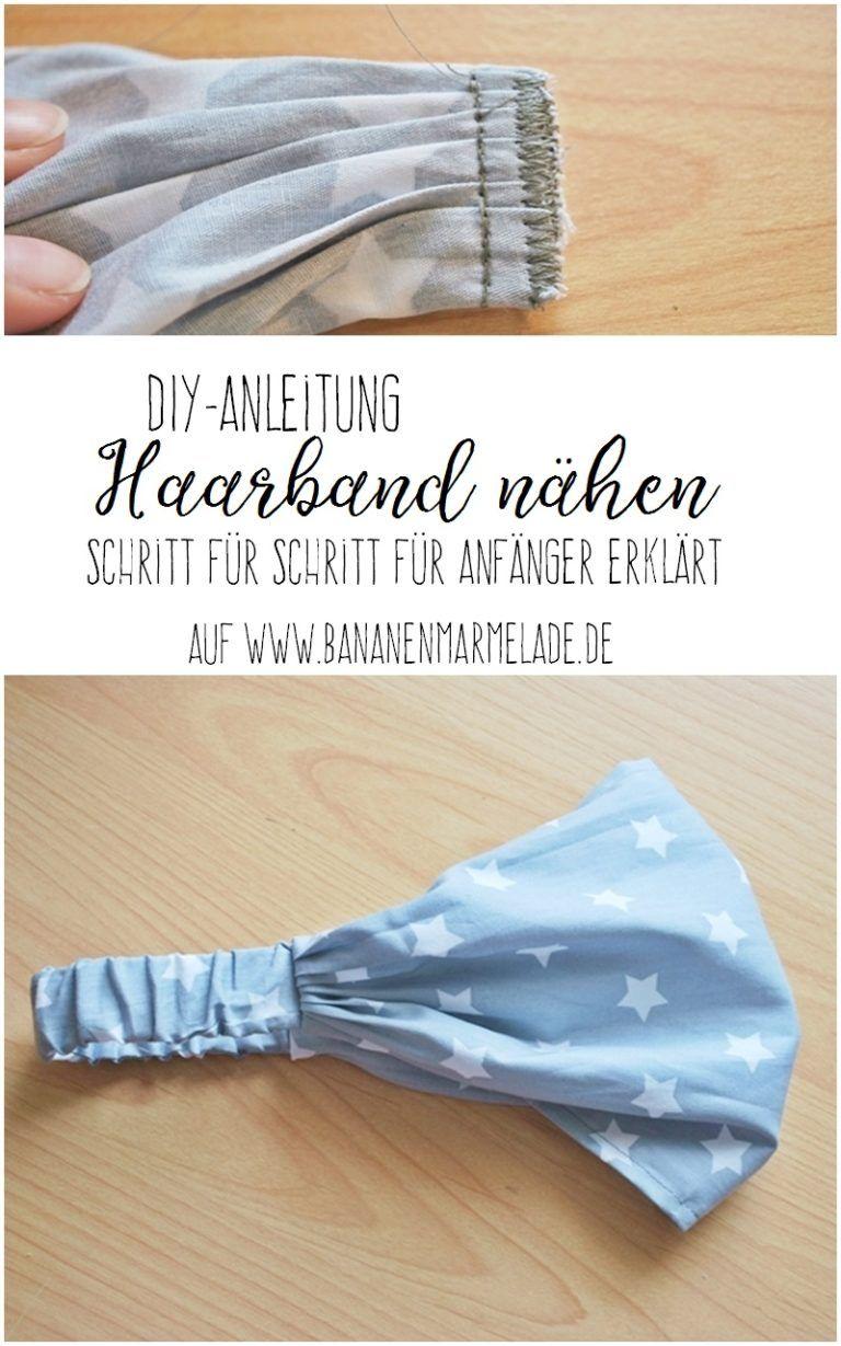 Instrucciones de costura de bricolaje: pañuelo para la cabeza / banda para el cabello – BANANA JAM