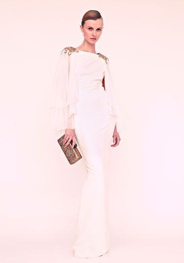 Marchesa Resort 2013 - Harper's BAZAAR; NOTE: Shoulder embellishments