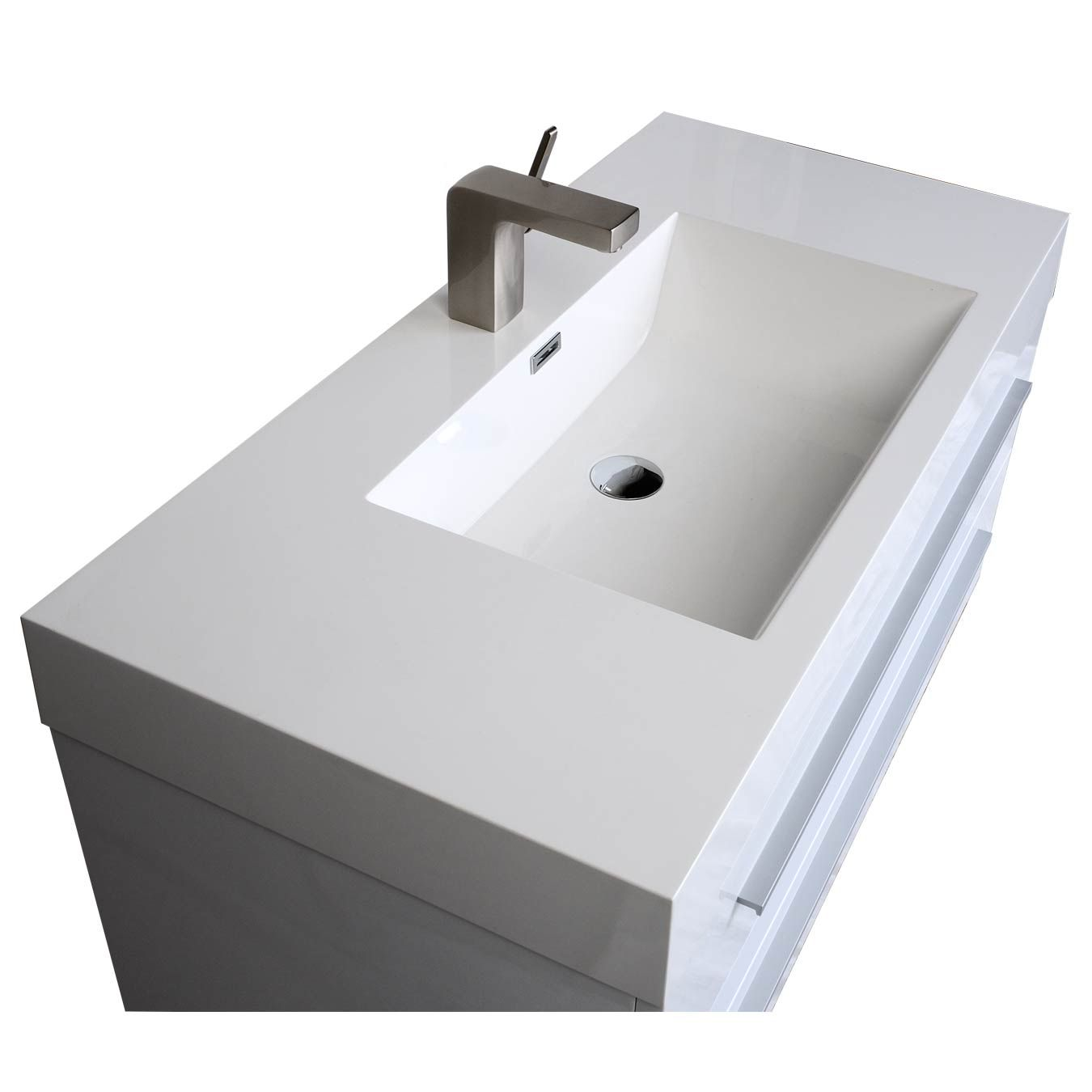 Beau 35.5 In. Wall Mount Modern Bathroom Vanity In High Gloss White TN M900