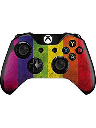 3fb4ba415f PRIDE Xbox One Controller Skin - Distressed Rainbow Flag Vinyl Decal Skin  For Your Xbox One Controller ❤ Skinit