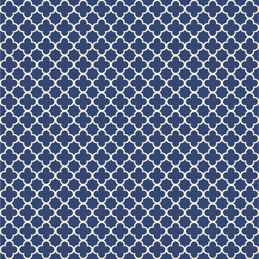 Waverly Blue Trellis Lattice on White Wallpaper WA7706