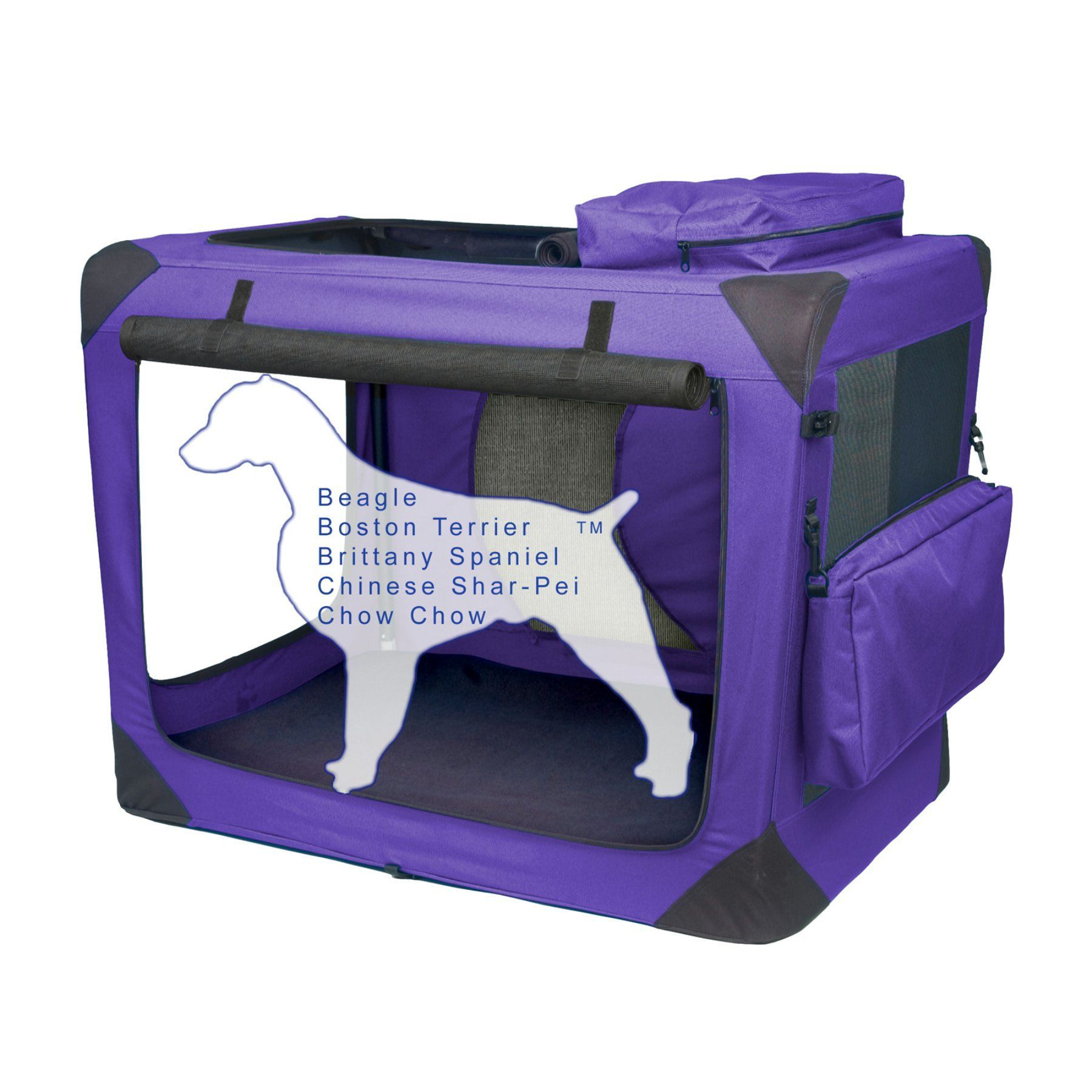 Pet Gear Portable Soft Crate30 inchesLavender PG5530LV