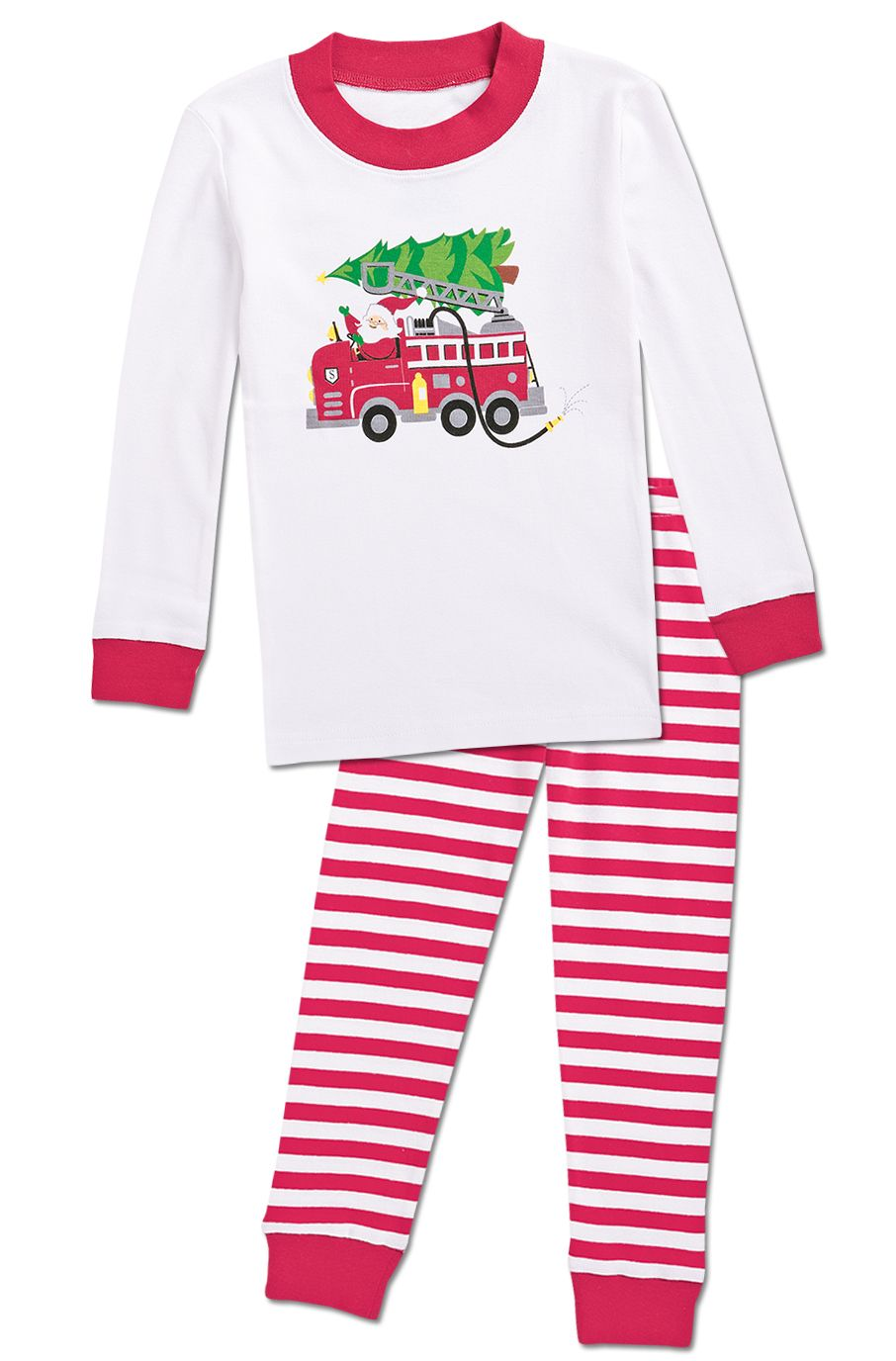 cfceeb0a50e8 From CWDkids  Holiday Fire Truck Pajamas