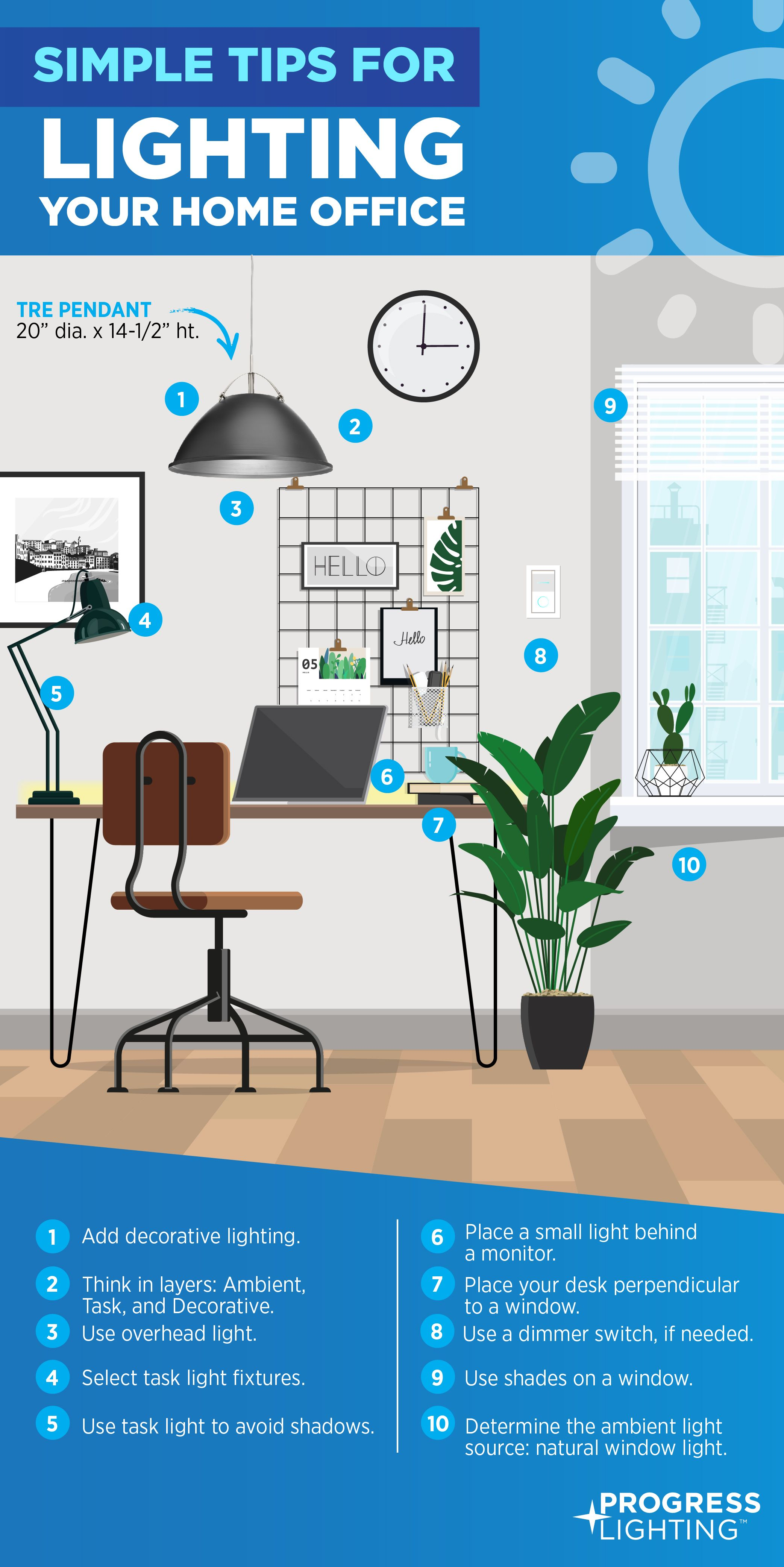 Simple Tips For Lighting Your Home Office To Use While You Work From Home To Make It Easier On You In 2020 Small Desk Lamp Decorating Blogs Led Tape Lighting