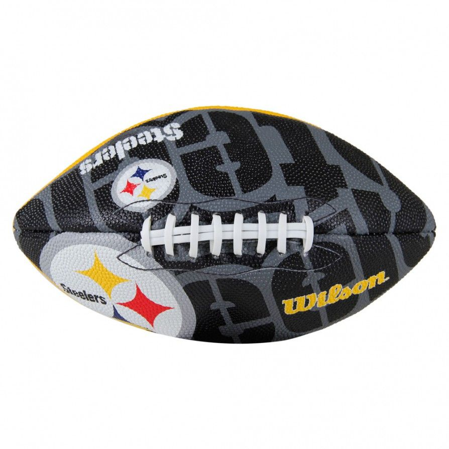 Bola de Futebol Americano Wilson NFL Team Logo Jr Pittsburgh Steelers b5bfe1a55c36c