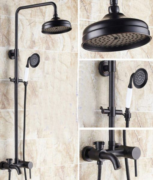 Cascades Oil Rubbed Bronze Wall Mounted Rainfall Shower Head With