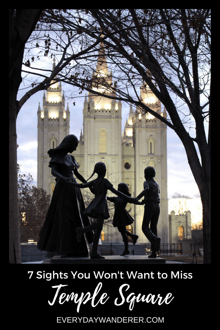 Salt Lake City's Temple Square is the most visited place in Utah. Here are seven sights you won't want to miss. #saltlakecity #saltlake #utah #visitslc #templesquare