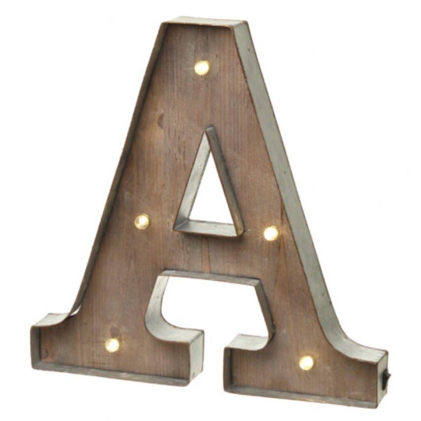 Wooden Alphabet Letter LED Light