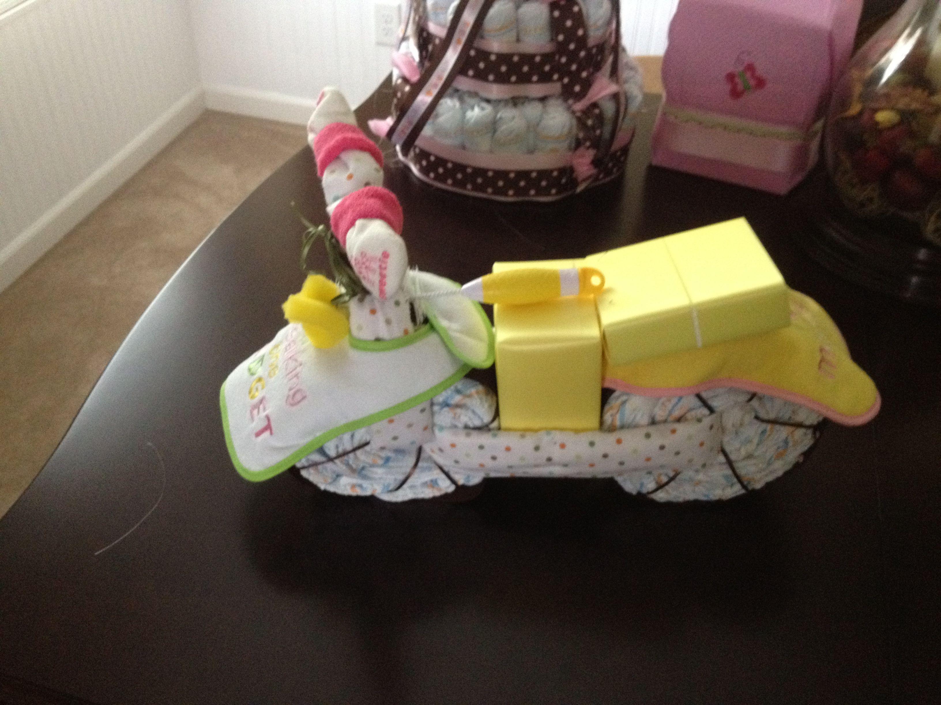 Diaper/Socks/Wash Cloths Motorcycle