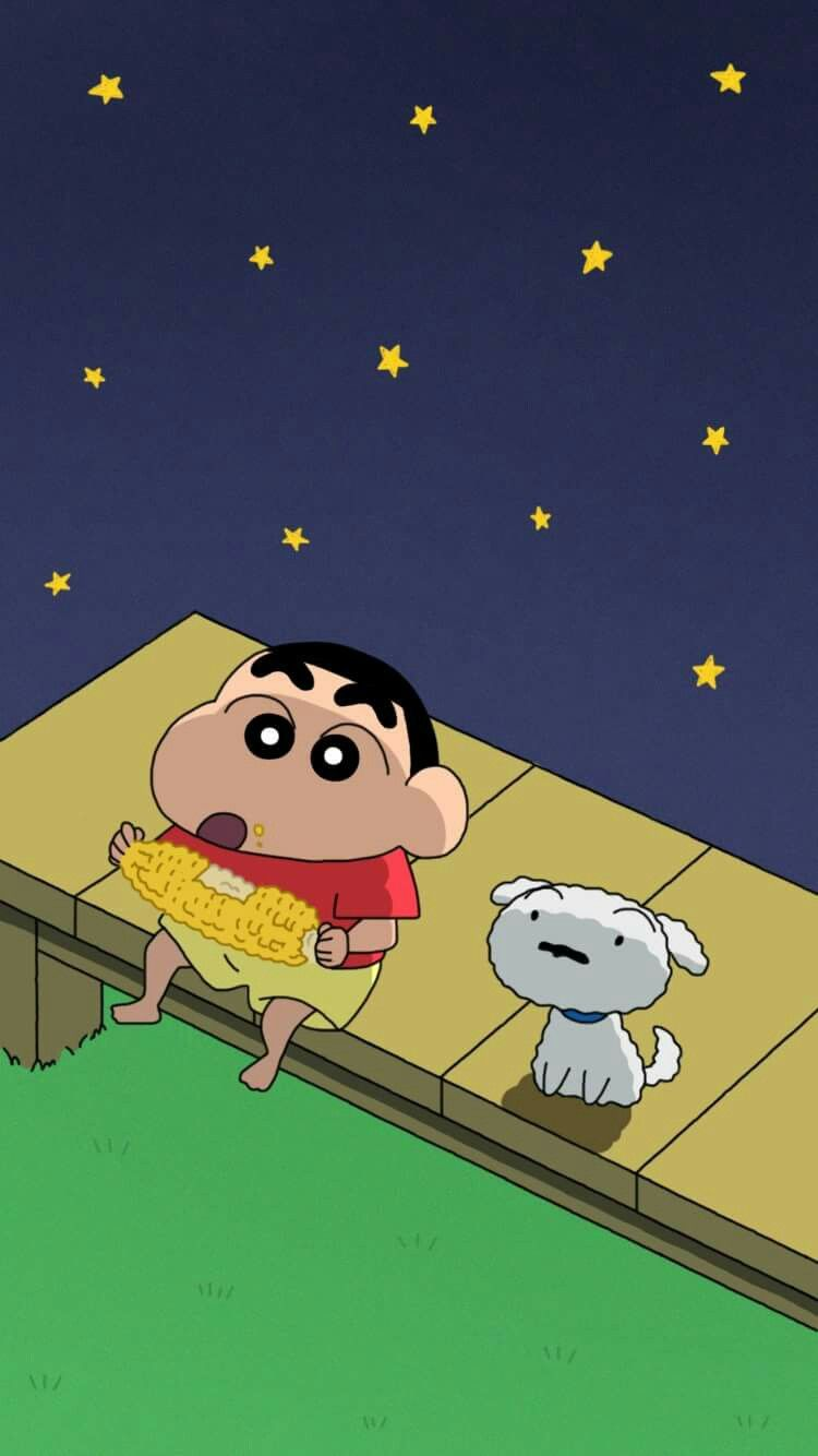 Shinchan And Shiro Shin Chan Wallpapers Cartoon Wallpaper Sinchan Cartoon