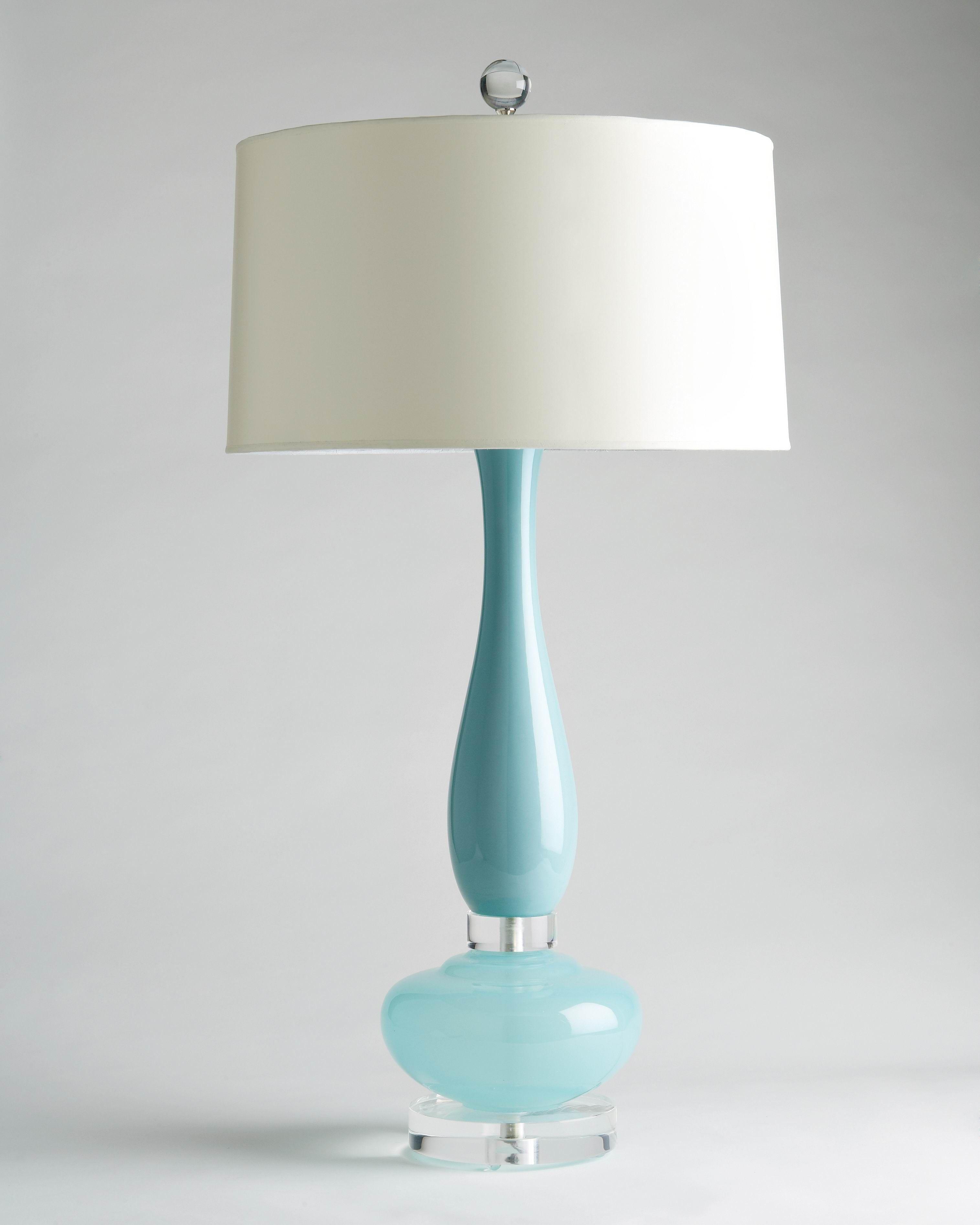 Turquoise Murano Glass Lamp, C 1960