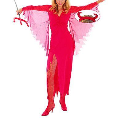 Crazy Demon Absolute Red Dress Women\u0027s Halloween Costume Cosplay